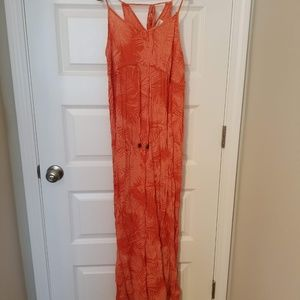Motherhood Maternity Tropical Orange Maxi Dress
